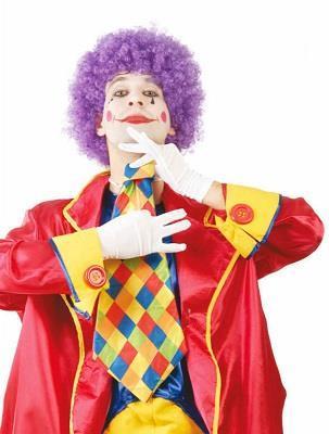 Maxi Cravatta Clown Cravattone A Scacchi 55 Cm - 2