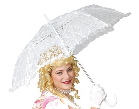 Ombrello In Pizzo Bianco