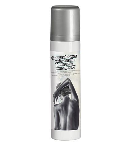 Trucco Spray Corpo E Capelli Glitter Argento 75 Ml