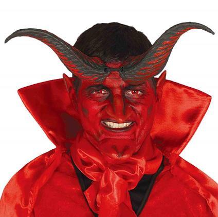 Corna da diavolo nero, rosso demonio 20 cm