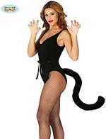 Coda da gatto nera 50cm