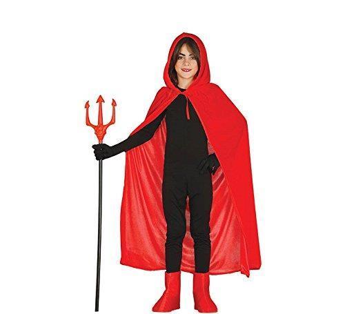 Mantello velluto rosso con cappuccio 100 bambino