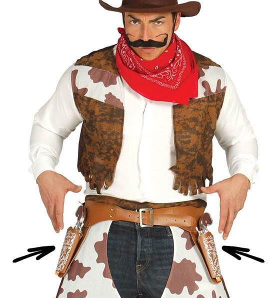 Cinturone Cowboy Con Doppia Fondina E Pistole