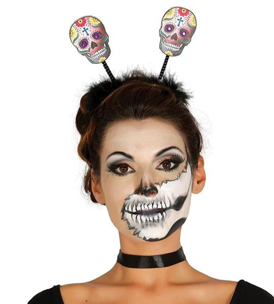 Cerchietto Halloween Con Teschi Messicani