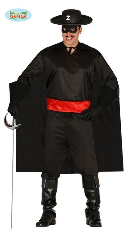 Vestito Giustiziere Zorro Unica