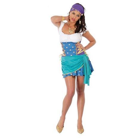 Costume Zingara Esmeralda. Taglia Unica