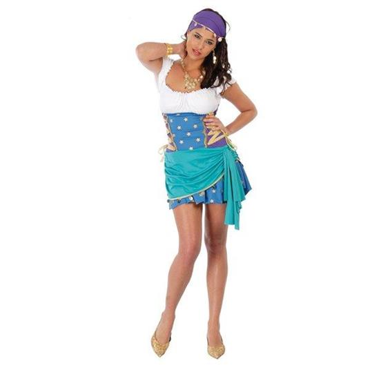 Costume Zingara Esmeralda. Taglia Unica - 7