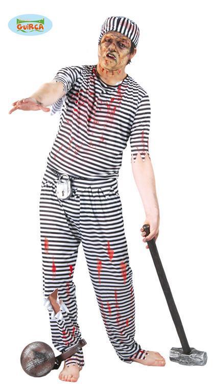Vestito Carcerato Zombi Unica - 2