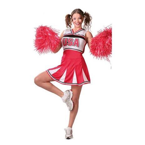 Costume Cheerleader Ragazza Pon Pon. Taglia Unica - 3