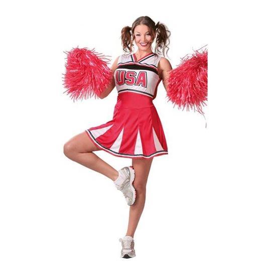 Costume Cheerleader Ragazza Pon Pon. Taglia Unica - 14