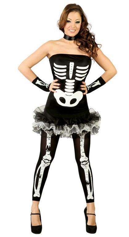 Vestito Sexy Skeleton M