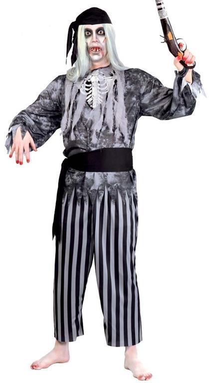 Vestito Pirata Fantasma Uomo Zombie Unica