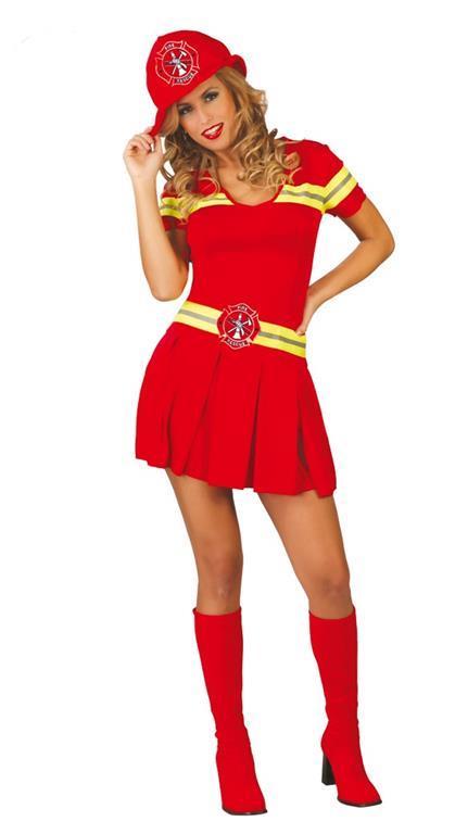 Vestito Vigilessa Del Fuoco - Pompiere Donna Unica