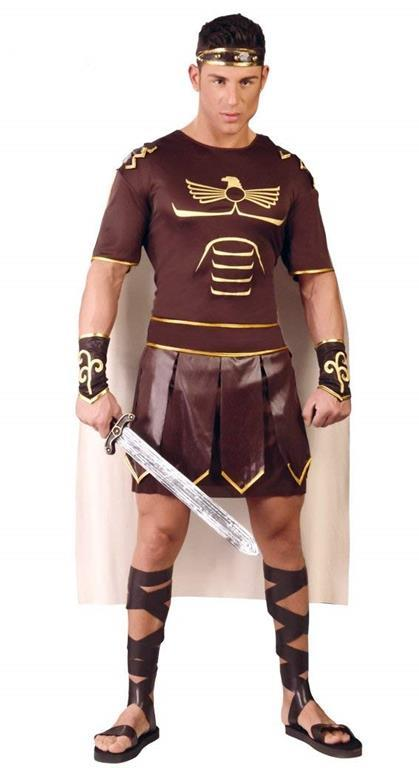 Vestito Gladiatore Romano Unica - 2