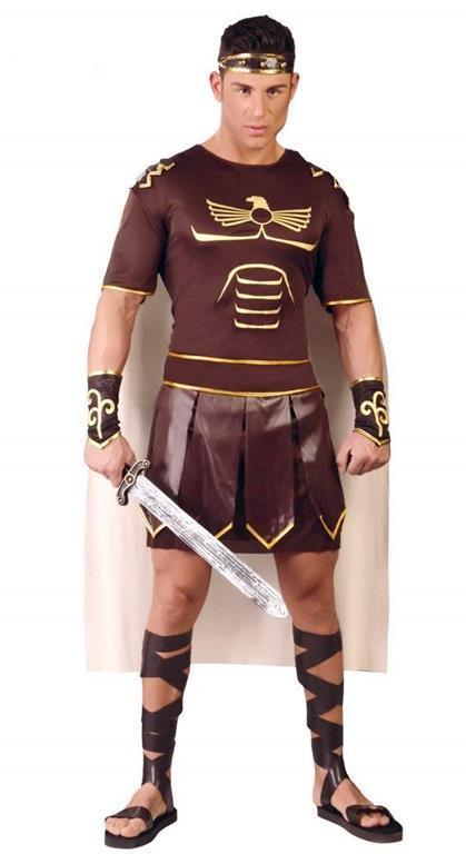 Vestito Gladiatore Romano Unica - 4