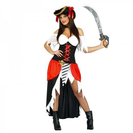 Costume bucaniera pirata. Taglia L