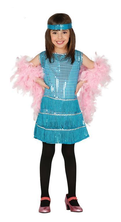 Costume Charleston Azzurro Bambina - 2
