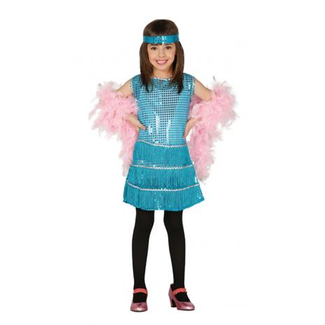 Costume Charleston Azzurro Bambina - 7