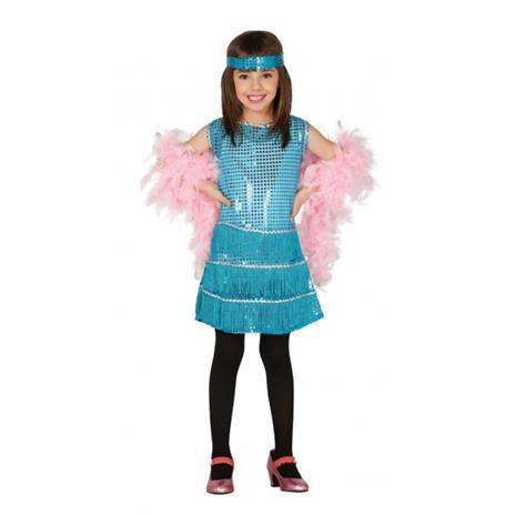 Costume Charleston Azzurro Bambina - 4