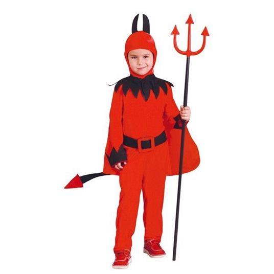 Costume Diavolo Bambino Halloween Large 10 - 12 Anni 142 - 148 cm - 5