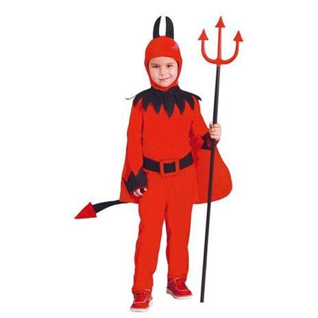 Costume Diavolo Bambino Halloween Large 10 - 12 Anni 142 - 148 cm - 2