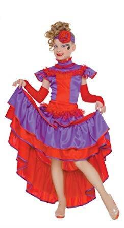 Costume can can bambina. Da 7 anni