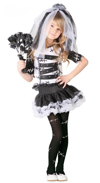 Vestito Monster Bride Sposa Cadavere 7-9 Anni