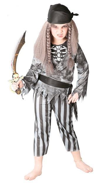Vestito Pirata Fantasma 7-9 Anni