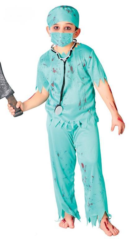 Vestito Medico Zombie 5-6 Anni