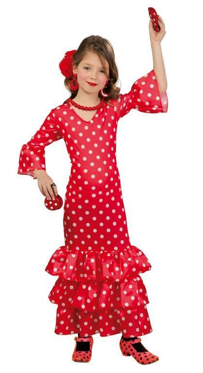 Vestito Flamenco Spagnola 7-9 Anni