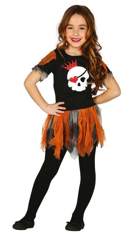 Vestito Skull Girl 5-6 Anni