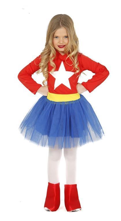 Vestito Captain America 5-6 Anni