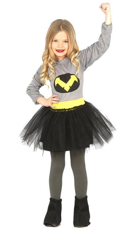 Vestito Bambina Batman 3-4 Anni