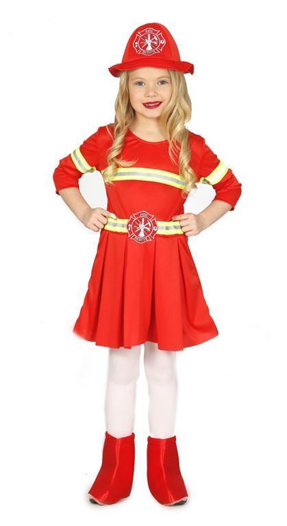 Vestito Vigilessa Del Fuoco Pompiera 7-9 Anni