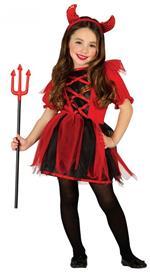 Costume Diavoletta Bambina Halloween XS 3 - 4 Anni 95 - 100 cm