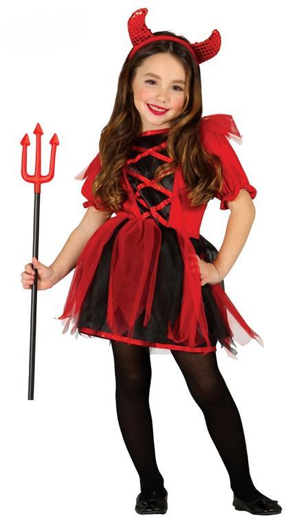 Costume Diavoletta Bambina Halloween XS 3 - 4 Anni 95 - 100 cm - 3