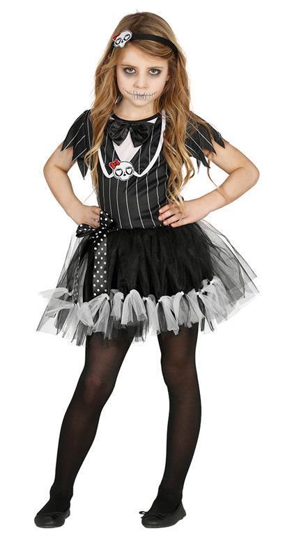 Vestito Miss Scheletro 3-4 Anni