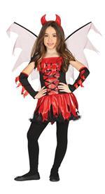 Vestito Diavolessa Demone 7-9 Anni