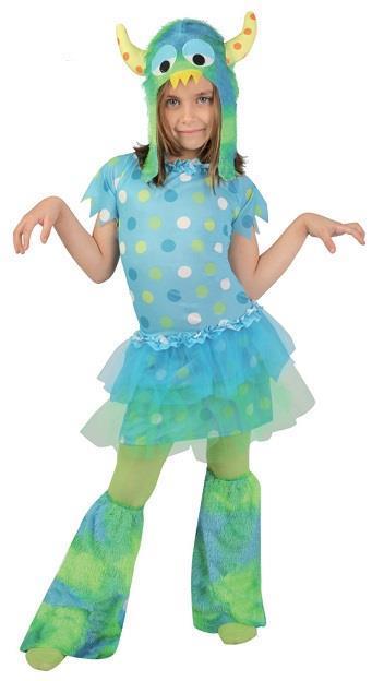 Vestito Monstruita Azul 7-9 Anni