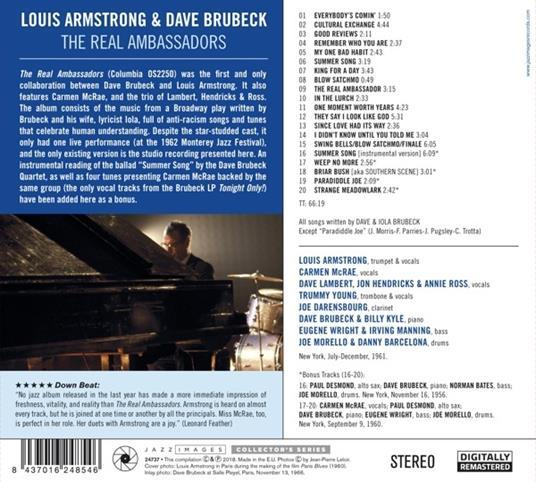 The Real Ambassadors ( + Bonus Tracks) - CD Audio di Louis Armstrong,Dave Brubeck - 2