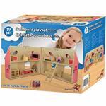 Casa Di Bambole In Legno Con Serratura Mobili Accessori DollHouse Playset