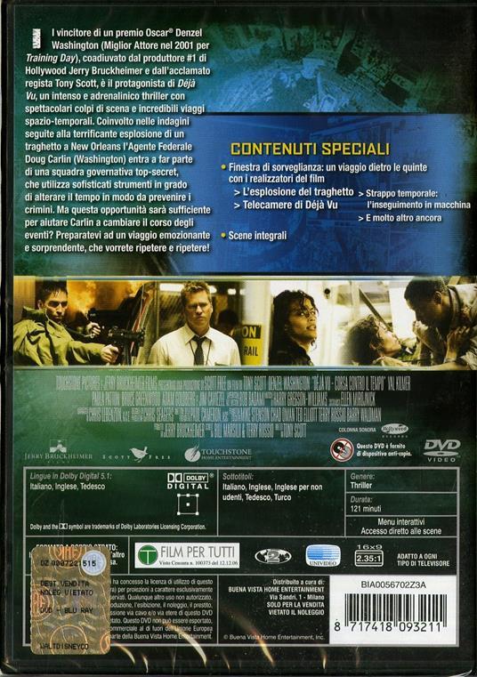 Deja Vu. Corsa contro il tempo di Tony Scott - DVD - 2