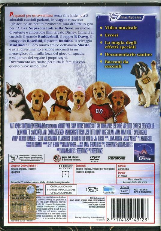 Snow Buddies. Supercuccioli sulla neve di Robert Vince - DVD - 2