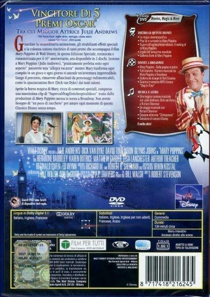 Mary Poppins (2 DVD)<span>.</span> Edizione Speciale 45º anniversario di Robert Stevenson - DVD - 2