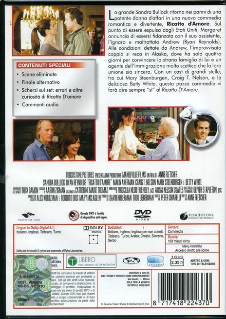 Ricatto d'amore di Anne Fletcher - DVD - 2