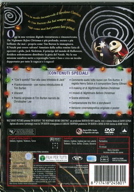 Nightmare Before Christmas<span>.</span> Collector's Edition di Henry Selick - DVD - 4