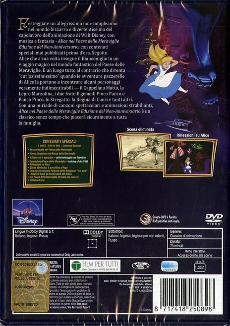 Alice nel Paese delle meraviglie<span>.</span> Edizione speciale di Clyde Geronimi,Hamilton Luske,Wilfred Jackson - DVD - 2