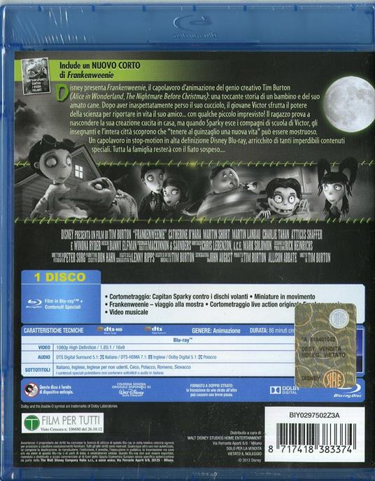 Frankenweenie di Tim Burton - Blu-ray - 2