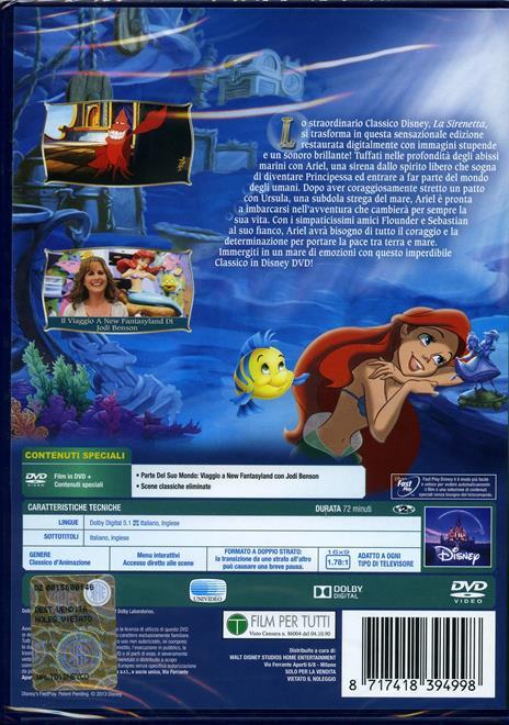 La Sirenetta<span>.</span> Diamond Edition di John Musker,Alan Menken - DVD - 3