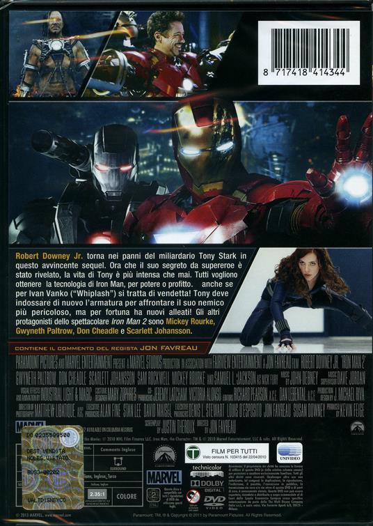 Iron Man 2 di Jon Favreau - DVD - 2